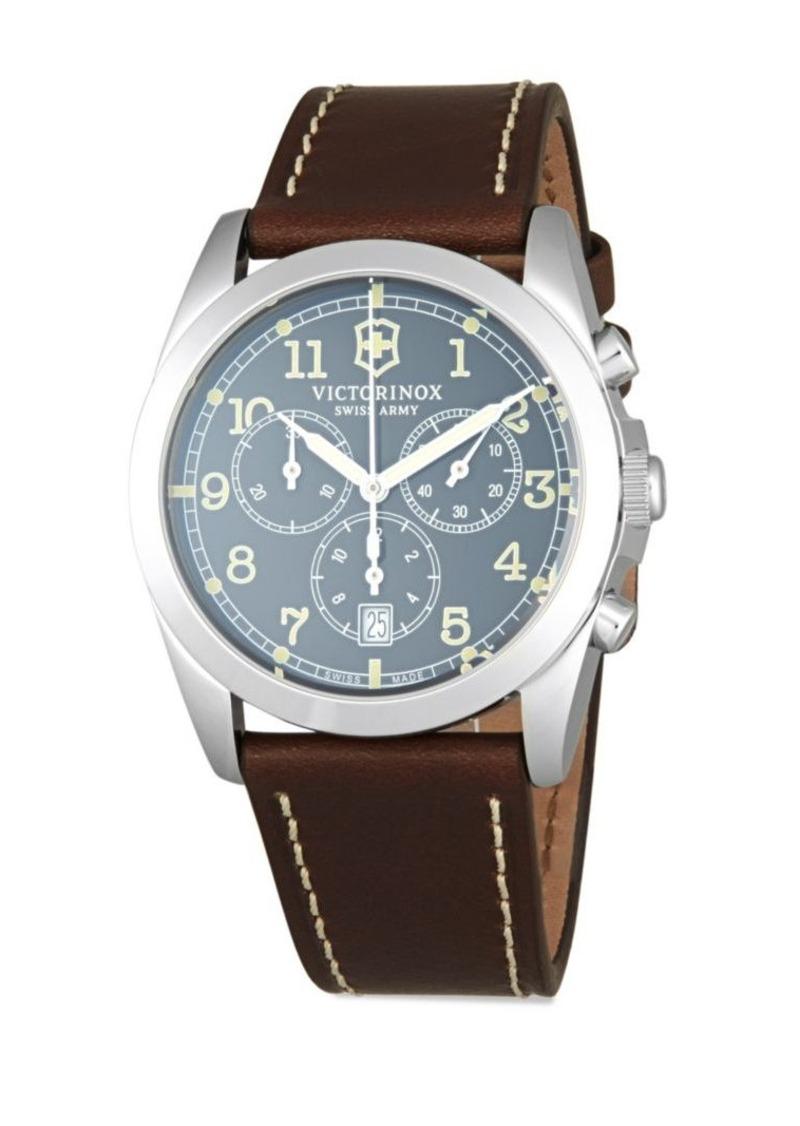 98+ Amazon Com Victorinox Men S 241567 Infantry Chronograph Brown ... ff5c2b2bf4