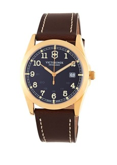 Victorinox Infantry Goldtone & Leather Watch
