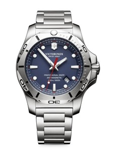 Victorinox Swiss Army Inox Pro Diver Blue Dial Stainless Steel Bracelet Watch