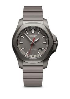 Victorinox Round Rubber Strap Analog Titanium Watch