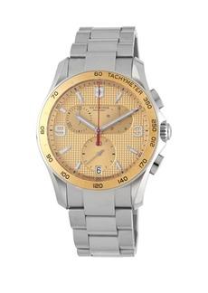 Victorinox Stainless Steel Chronograph Water-Resistant Bracelet Watch