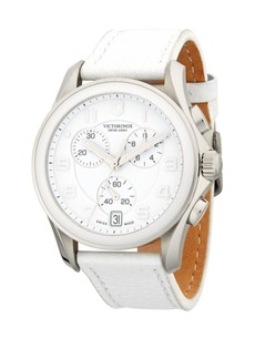 Victorinox Stainless Steel Leather-Strap Watch
