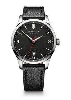 Victorinox Men's Alliance Round Leather Strap Watch, 40mm