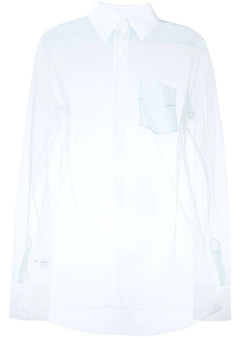 Viktor & Rolf classic tulle shirt