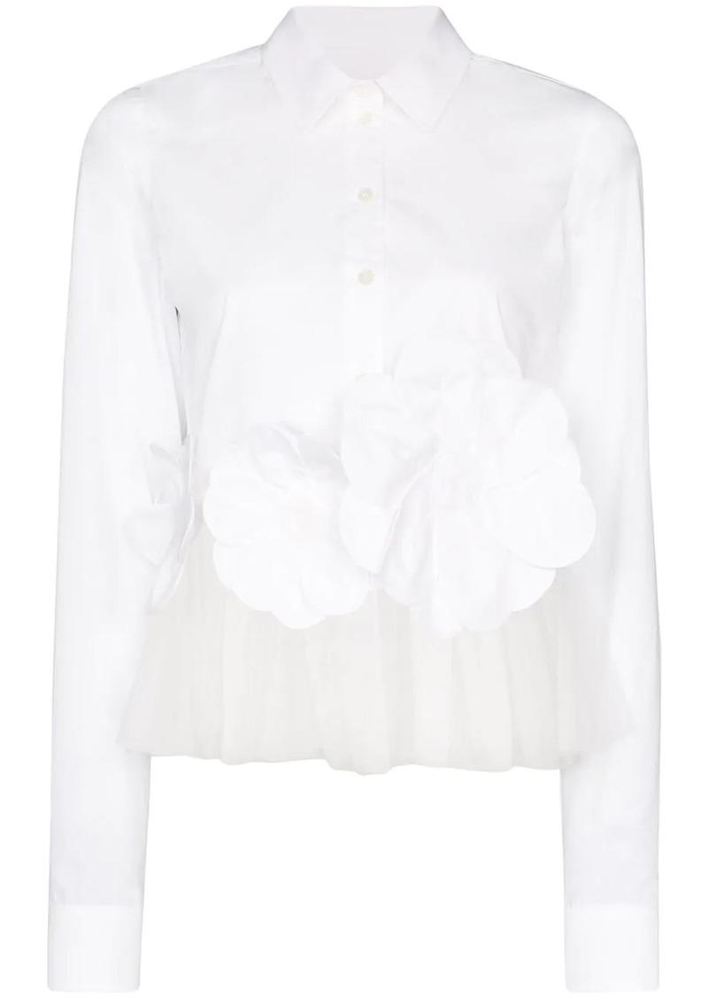 Viktor & Rolf flower power appliqué cotton shirt