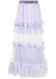 Viktor & Rolf lace-panelled tulle maxi skirt