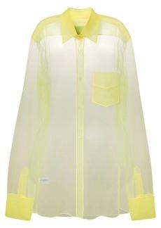 Viktor & Rolf long-sleeve sheer blouse