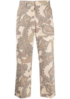 Viktor & Rolf paisley-print cropped trousers