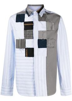 Viktor & Rolf patchwork long-sleeved shirt