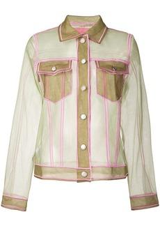 Viktor & Rolf sheer fitted jacket