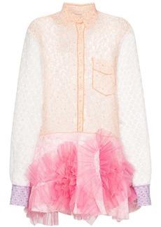 Viktor & Rolf swirl lace mini dress