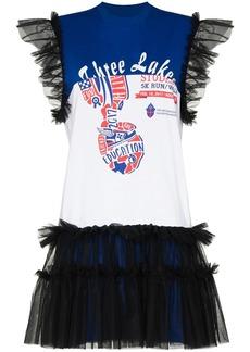 Viktor & Rolf Up-Made2 tulle-trim T-shirt dress