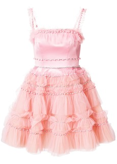 Viktor & Rolf Soir embellished tulle ruffle dress - Pink & Purple
