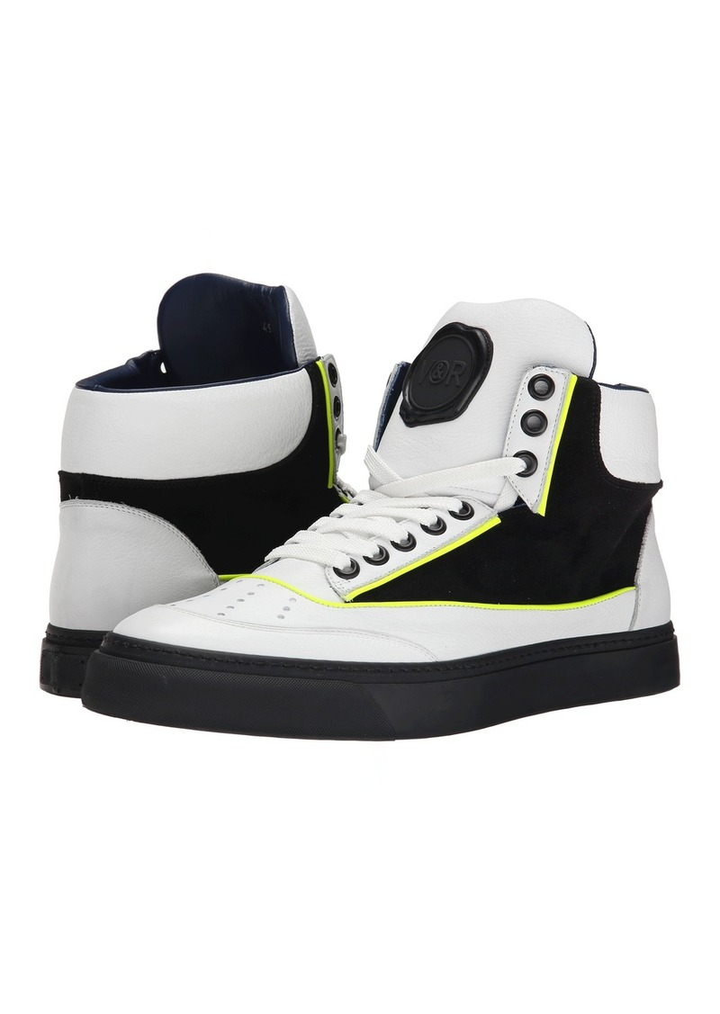 Viktor & Rolf Suede and Leather Hi-Top Sneaker