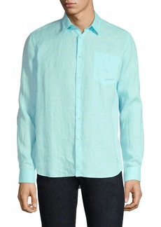 Vilebrequin Caroubis Linen Button-Down Shirt