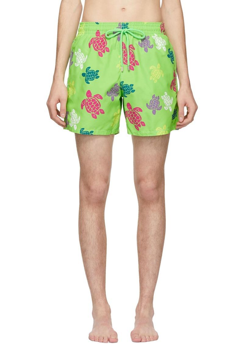 Vilebrequin Green Tortues Multicolores Moorea Shorts