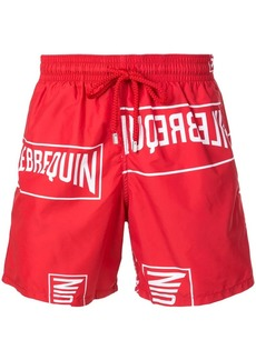 Vilebrequin logo print swim trunks