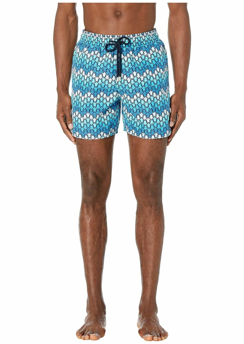 Vilebrequin Moorea Herringbone Turtles Swim Trunks