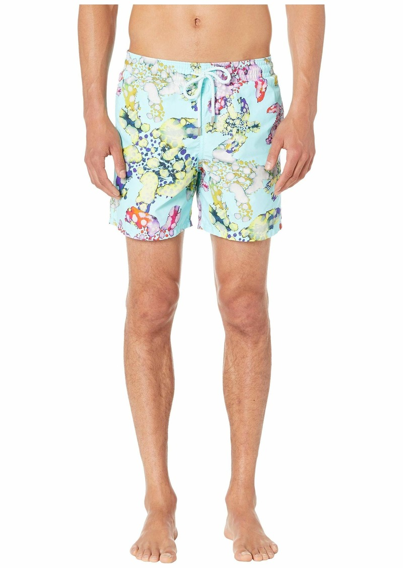 Vilebrequin Moorea Watercolor Turtles Swim Trunks