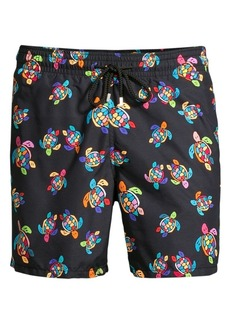 a66e218463ab3 Vilebrequin Vilebrequin 'Moorea - Bling Turtles' Print Swim Trunks ...