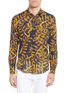 Vilebrequin Vilbrequin Gold Palms Voile Sport Shirt
