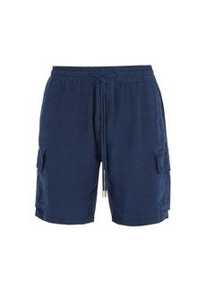 Vilebrequin Baie drawstring linen shorts