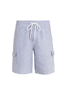 Vilebrequin Berrix striped linen shorts