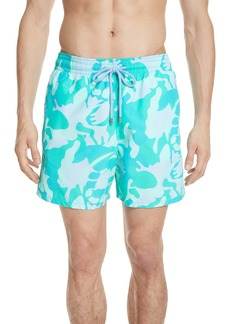Vilebrequin Camo Turtle Print Swim Trunks