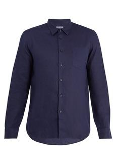 Vilebrequin Caroubis point-collar linen shirt