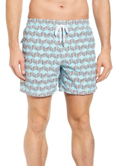 Vilebrequin Cubed Fish Swim Trunks