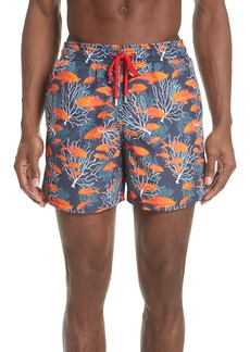 Vilebrequin Depth of Seas Print Swim Trunks