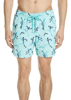 Vilebrequin Embroidered Fire Dance Swim Trunks
