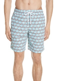 Vilebrequin Fishes Cube Print Swim Trunks