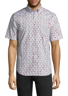 Vilebrequin Flamingo Cotton Button-Down Shirt