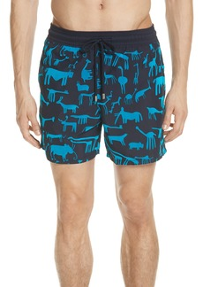 Vilebrequin Flocked Primitive Print Swim Trunks