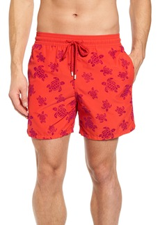 Vilebrequin Flocked Turtles Swim Trunks