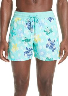Vilebrequin Glow in the Dark Turtle Dance Swim Trunks