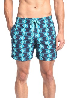 Vilebrequin Graphic Fish Print Swim Trunks