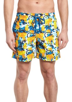 b643bcfce5 Vilebrequin Modernist Paradise Micro Turtle Swim Trunks | Swimwear