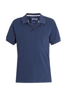 Vilebrequin Logo-embroidered cotton-piqué polo shirt