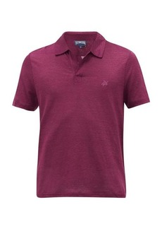 Vilebrequin Logo-embroidered cotton-piqué polo shirt