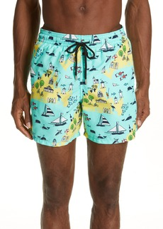 Vilebrequin Martha's Vineyard Print Swim Trunks