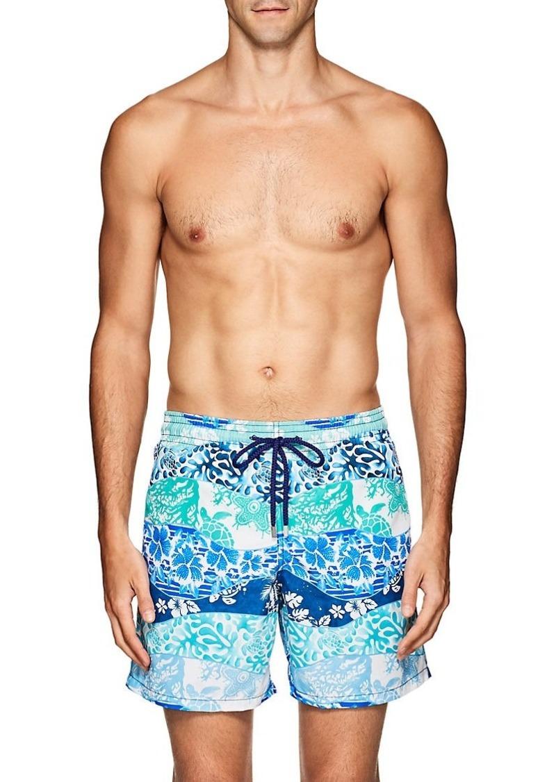 50721b465c Vilebrequin Vilebrequin Men's Moorea Mixed-Print Swim Trunks | Swimwear