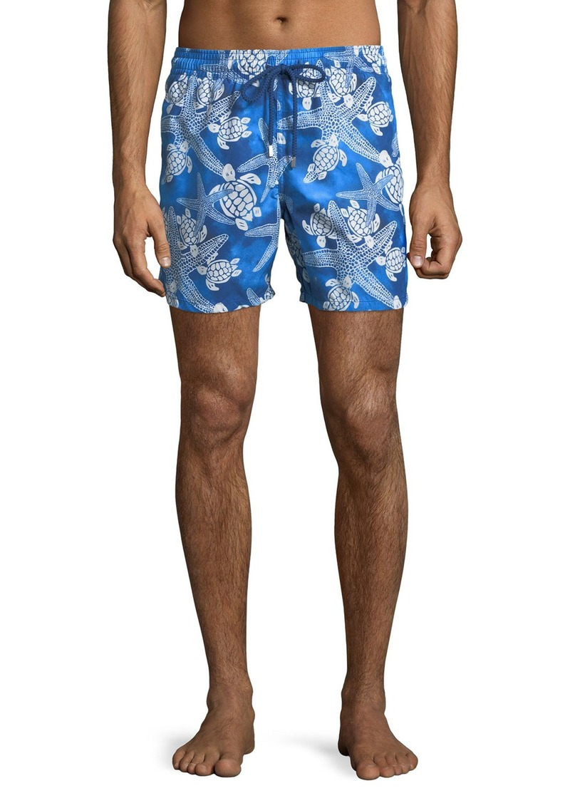 Vilebrequin Men's Moorea Starlettes Turtles Vintage Swim Trunks