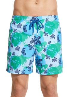 Vilebrequin 'Moorea - World Map' Print Swim Trunks