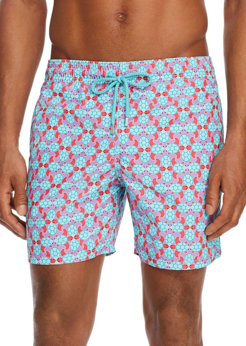 Vilebrequin Moorea Data Turtle-Print Swim Trunks