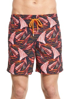 Vilebrequin 'Moorea' Print Swim Trunks