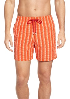 Vilebrequin Moorea V-Fish Print Swim Trunks