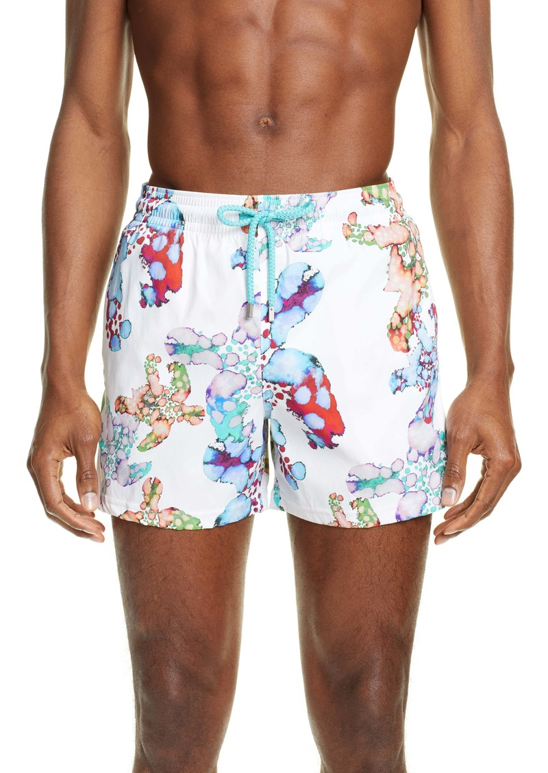 Vilebrequin Moorea Watercolor Print Swim Trunks