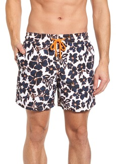 Vilebrequin Natural Flowers Swim Trunks
